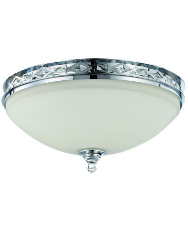 Shown in Chrome finish, Clear crystal and White glass