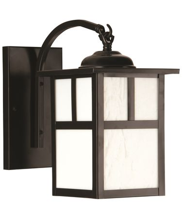 Shown in Burnished Copper finish and Frosted glass