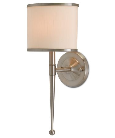 Shown in Satin Nickel finish and Cream with Brass Trim shade
