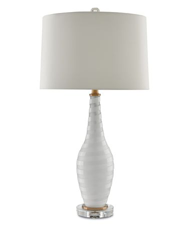 Shown in Frosted-White-Clear finish and White Shantung shade
