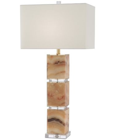Shown in Honey Marble-Clear finish and Off White Cotton shade