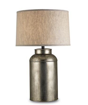 Shown in Antique Nickel finish and Natural Linen shade