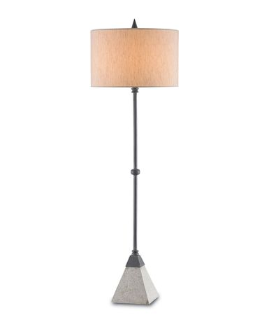 Shown in Blacksmith-Polished finish and Beige Poplin shade
