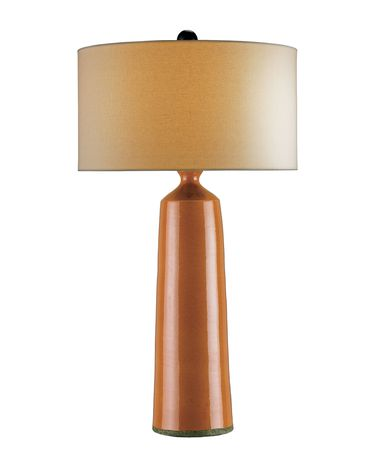 Shown in Pumpkin Crackle-Satin Black finish and Off White Linen shade
