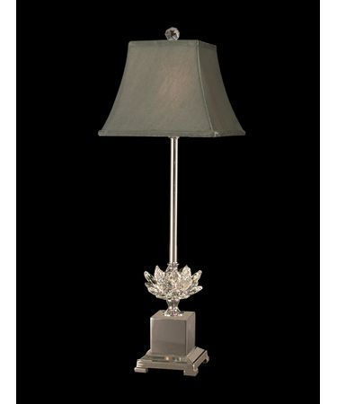 Shown in Polished Nickel finish and Fabric shade