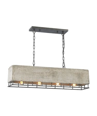 Shown in Silverdust Iron finish, Natural Concrete shade and Metal Frame accent