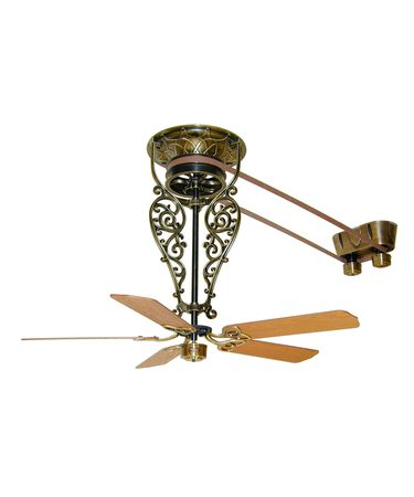 Shown in Antique Brass finish with Bourbon Street Long Neck Fan Assembly (FP520)