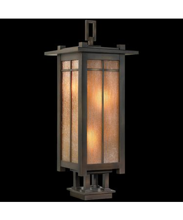 Shown in Warm Bronze Patina finish and Champagne Linen Glass glass