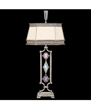 Shown in Silver finish and Amethyst-Tourmaline-Aquamarine-Clear Diamond crystal