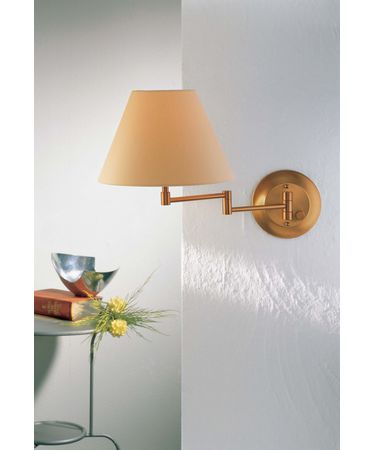Shown in Antique Brass finish and Kupfer shade