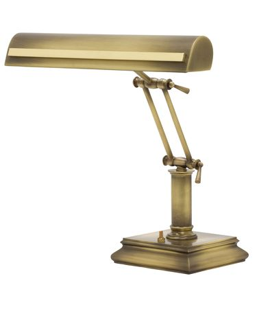 Shown in Antique Brass with Polished Brass finish and Metal shade