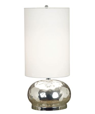Shown in Mercury Glass finish and White Drum shade