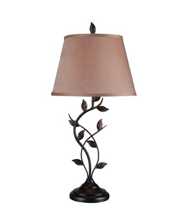 Shown in Oil Rubbed Bronze finish and Gold Tapered  shade