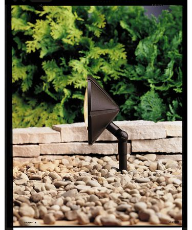 Shown in Textured Architectural Bronze finish and Clear Polycarbonate accent
