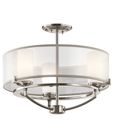 Shown in Classic Pewter finish and Etched Opal Diffuser glass