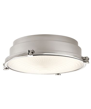 Shown in Polished Nickel finish and Clear Fresnel glass