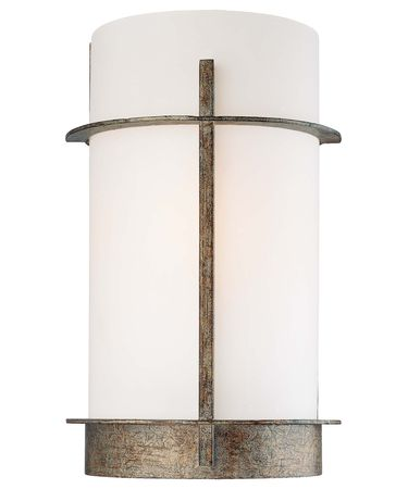 Shown in Aged Patina Iron finish and Etched Opal glass