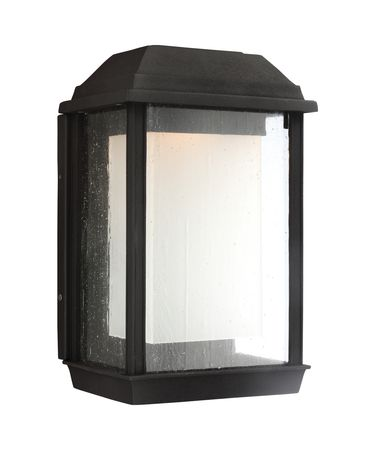 Shown in Textured Black finish and Etched - Seeded glass