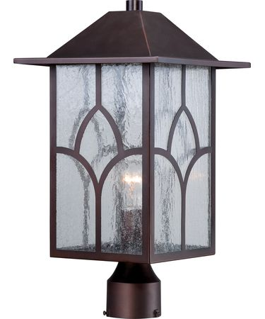 Shown in Claret Bronze finish and Clear Seed glass
