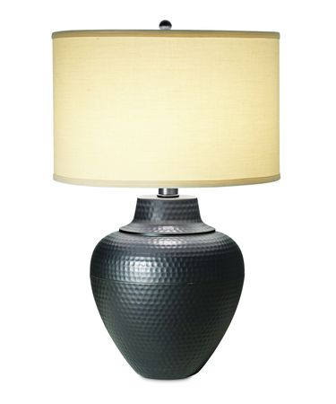 Shown in Black Bronze with Gold Edge finish and Drum-Cream-Linen shade