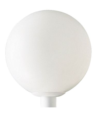 Shown in White finish and Acrylic Globe glass