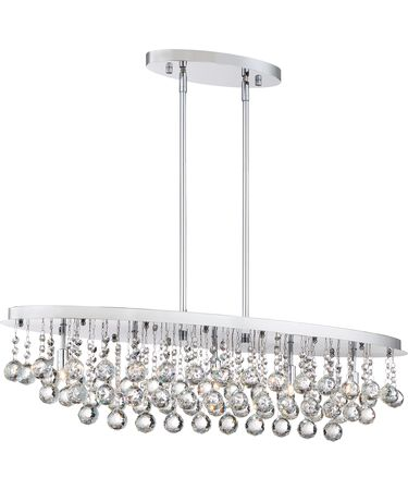 Shown in Polished Chrome finish and Clear crystal