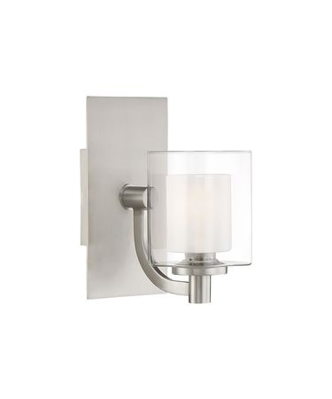 Shown in Brushed Nickel finish and Heavy Sand Blast Inner glass
