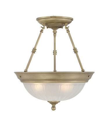 Quoizel Melon 15 Inch Semi Flush Mount