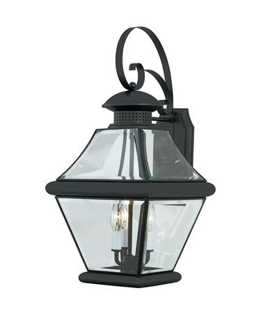 Shown in Mystic Black finish and Clear glass