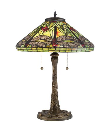 Shown in Architectural Bronze finish and Tiffany glass