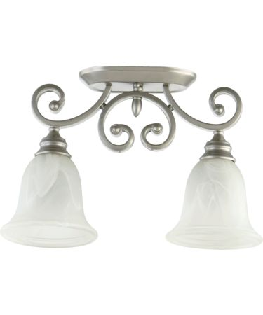 Shown in Classic Nickel finish and Faux Alabaster glass