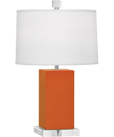 Shown in Polished Nickel-Pumpkin finish and Oyster Linen shade