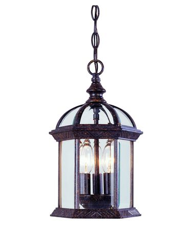 Shown in Rustic Bronze finish and Clear Beveled glass