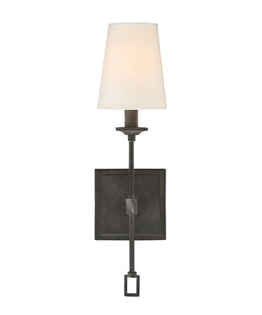 Shown in Oxidized Black finish and Fabric shade