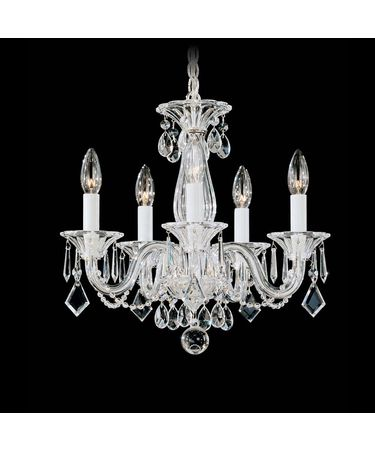 Shown in Silver finish and Clear crystal