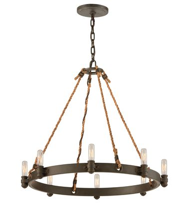 Troy Lighting F3125 Pike Place 25 Inch Chandelier Capitol