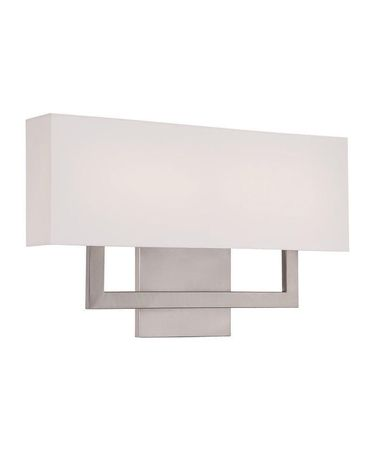 Shown In Brushed Nickel finish with Trimless Fabric Shade