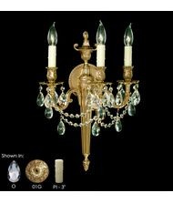 American Brass and Crystal WS2113  8 Inch Wall Sconce