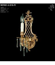 American Brass and Crystal WS9451 9450 Series 7 Inch Wall Sconce