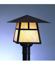 Arroyo Craftsman CP-15 Carmel 1 Light Outdoor Post Lamp