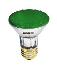 Bulbrite H50PAR20G 50 Watt 120 Volt Green PAR20 Halogen Bulb