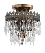 Crystorama 1590 Alhambra 8 Inch Semi Flush Mount