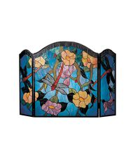 Dale Tiffany FS0100 Dragonfly 50 Inch Fireplace Screen