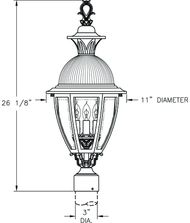 Hanover Lantern B15430 Merion Medium 3 Light Outdoor Post Lamp