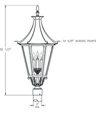 Hanover Lantern B19630 Westminster LE Large 4 Light Outdoor Post Lamp