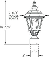 Hanover Lantern B2330 Jamestown Small 1 Light Outdoor Post Lamp