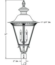 Hanover Lantern B53630 Stockholm Large 4 Light Outdoor Post Lamp