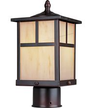Maxim Lighting 85055 Craftsman Energy Smart 1 Light Outdoor Post Lamp