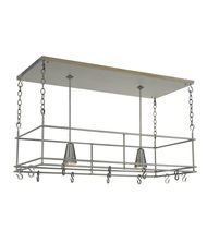 Meyda Lighting 121711 Spartan 48 Inch Lighted Pot Rack