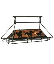Meyda Lighting 133883 Wild Horses 48 Inch Lighted Pot Rack
